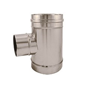 Té 93° inox - Court - Simple débouchure - bim