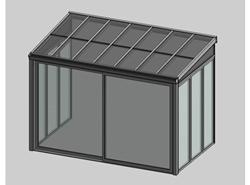 Solar greenhouse with sliding door 2m - bim