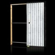 Light Brick wall single opening sp125 - bim