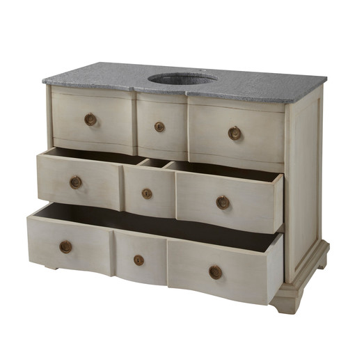 maisons du monde wooden washbasin cabinet and black or grey marble bim object free bim file. Black Bedroom Furniture Sets. Home Design Ideas