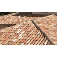 Roof of terracotta tiles over empty attic space - bim
