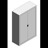 Fixed medicine cabinet - Sliding Curtain - bim