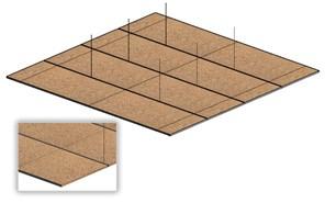 Falso techo desmontable de fibra mineral - bim