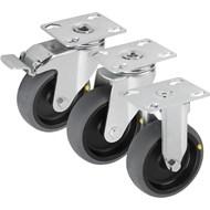 Roulette pivotante ou fixe conductrice d'électricité modèle lourd - bim