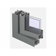 CS 68 Door outward opening with double brush - bim