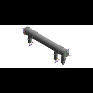 Kit collettore fumi Ø 160 con serrande per due caldaie VICTRIX PRO 35/55 ErP - bim