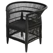 MALAWI Armchair in bamboo and black rattan - bim