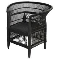 MALAWI Armchair in bamboo and black rattan - bim