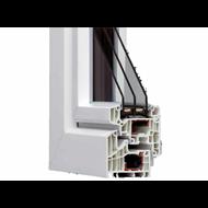 HX95 reinforced PVC thermal break 1 swing 1100x1300 - bim