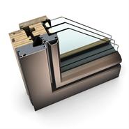 Window HF 410 Modell 5 TIMBER/ALUMINIUM - bim