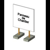 Regulation construction site information panel - bim
