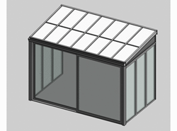 Solar greenhouse with sliding door panel blind 3.5m - bim