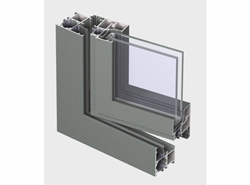 ES 50 Door outward opening with double transom - bim