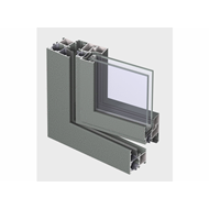 ES 50 Window inward opening Double Vent 30mm - bim