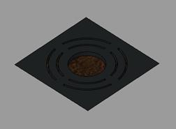 Alcorque cuadrado de hierro fundido - bim