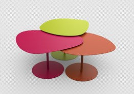 Table basse 3 galets - bim