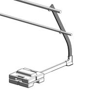 Barrial free-standing standard angled 30° - bim