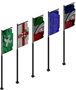 Flag of France Italy Lombardy Milan - bim