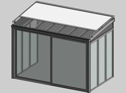 Solar greenhouse with curtain 2.5m - bim
