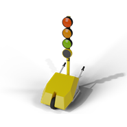Temporary traffic light - bim