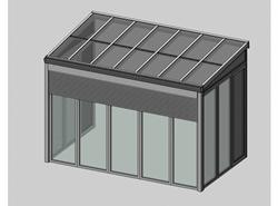 Solar greenhouse with sunshades 4m - bim