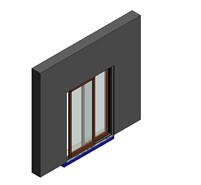 Rover Wood Blok - BLFMD500 - SlidingDoor - No Mosquito net - bim