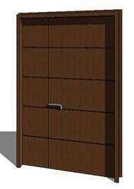Double-panel entrance door - bim