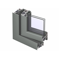 CS 77 Window outward opening double vent 89mm - bim