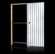 Light Plasterboard wall single opening sp125 - bim