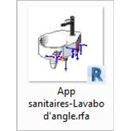 App sanitaires-Lavabo d'angle - bim