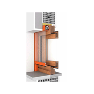 Window 2 doors M7 50 fitting system  - bim