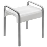 ARSIS shower stool, White and Mat grey - bim