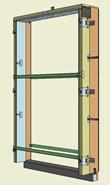 Monoblocco Termoisolante - RoverBlok Scuro_RVRSMC3 porta - bim