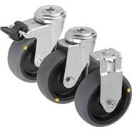 Roulette pivotante ou fixe conductrice d'électricité, modèle standard - bim