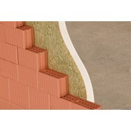 Mur extérieur en briques de terre cuite avec isolant  - bim