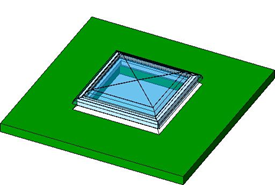 Roof velux window - bim