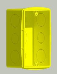 Caixa de luz retangular 4x2 (tomadas e interruptores) - bim