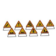 Temporary safety warning signs - bim