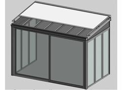 Solar greenhouse with curtain 3m - bim