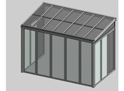 Solar greenhouse side opening 2m - bim