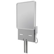 Electric adjustable washbasin support with mirror - bim