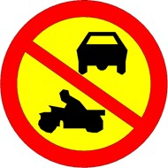 Traffic Sign - Sweden - No Driving Zone - bim