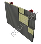 External wall - Non Fire Rated, normal application - ThermalRock S60 (Metal Deck Surface) - bim