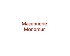 "Brick wall of ""monomur"" structure - bim"