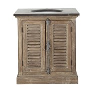 Washbasin in wood and marble furniture - bim