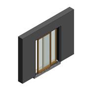 Rover Wood Blok - BLFVP90 - Scorrevole - no Zanzariera - bim