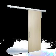 Porte coulissante droite 120Kg (L=2m) - bim