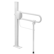 Adjustable support prop for hinged bar - bim