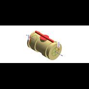 Ppr union ball valve fangle connection niron system - bim