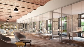 Panoramic frameless glass wall systems_simple glass_Exposed - bim